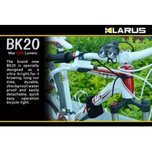 Klarus BK20 Bike Light LED 4x18650 Twin Head Flashlight, Military Gray Body, 1200 Max Lumens