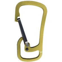 Klecker Stowaway Tool Carrier Carabiner, Brass and Titanium