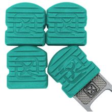 Klecker Stowaway Tool Caps, Turquoise, Pack of 6