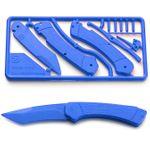Klecker Trigger Folding Plastic Knife Kit 3.2 inch Blade, Blue
