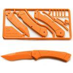 Klecker Trigger Folding Plastic Knife Kit 3.2 inch Blade, Orange