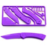 Klecker Trigger Folding Plastic Knife Kit 3.2 inch Blade, Purple