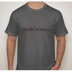 KnifeCenter.com American Apparel Medium Jersey T-shirt Asphalt Gray w/ Front Logo