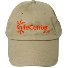 KnifeCenter.com Heavy Brushed Cotton Cap/Hat, Khaki