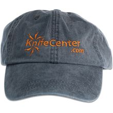 KnifeCenter.com Cotton Cap/Hat by Adams Headwear, Denim Blue with Orange Logo