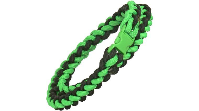 Knotty Boys Zombie Green Paracord Necklace