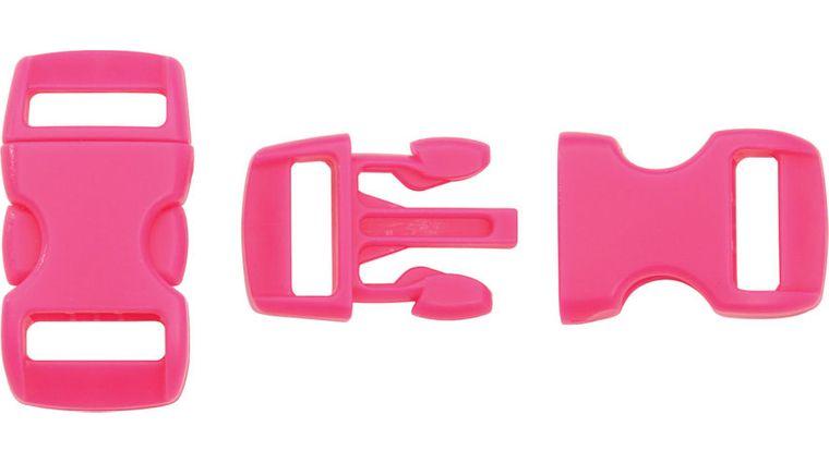 Knotty Boys Neon Pink Bracelet Buckles, 50-Pack