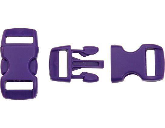 Knotty Boys Purple Bracelet Buckles, 50-Pack