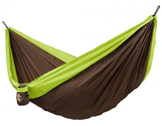 La Siesta Colibri Double Travel Hammock, Parachute Silk, Green