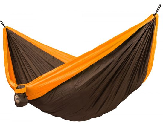 La Siesta Colibri Double Travel Hammock, Parachute Silk, Orange