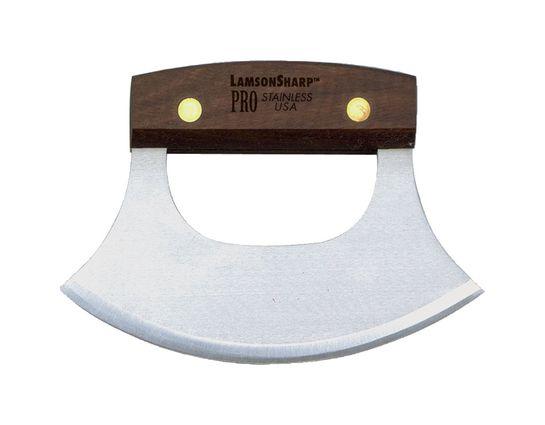 LamsonSharp USA Pro Walnut Alaskan Ulu Knife