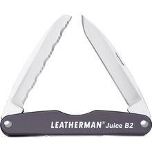 Leatherman Juice B2 Pocket-Size 2-Blade Folding Knife, Granite Gray