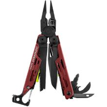 Leatherman Signal Full-Size Multi-Tool, Crimson, Nylon Sheath, Safety Whistle, Ferrocerium Rod and Diamond Sharpener
