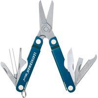 Leatherman Micra Keychain Mini Multi-Tool, 2.5 inch Blue Aluminum Handles