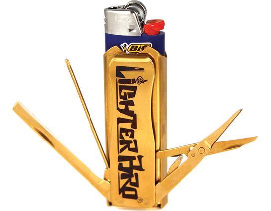 LighterBro Lighter Multi-Tool Sleeve, Titanium Gold
