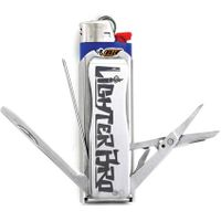 LighterBro Lighter Multi-Tool Sleeve, Silver