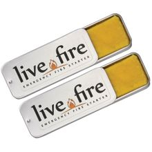 Live Fire Gear Live Fire Original Emergency Fire Starter, Twin Pack