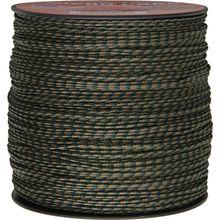 550 Micro Cord, Woodland Camo, Nylon Braided, 1,000 Feet x 1.18 mm