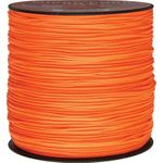 550 Micro Cord, Neon Orange, Nylon Braided, 1,000 Feet x 1.18 mm