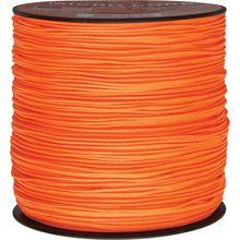 550 Micro Cord, Neon Orange, Nylon Braided, 1,000 Feet x 1.18 mm