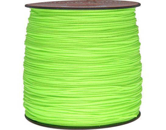 550 Micro Cord, Neon Green, Nylon Braided, 1,000 Feet x 1.18 mm