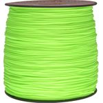550 Micro Cord, Neon Green, Nylon Braided, 1,000 Feet x 1.18 mm