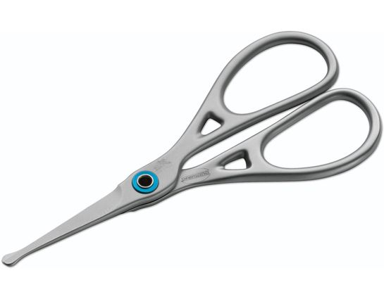 Premax Ring Lock System Men's Manicure Ear & Nose Scissors, Rounded Tips