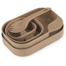Wildo Camp-A-Box Utensil and Plate Set, Tan
