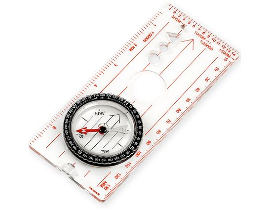 NDūR Large Liquid Filled Map Compass