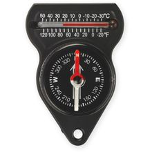 NDūR Mini Compass with Thermometer, Black