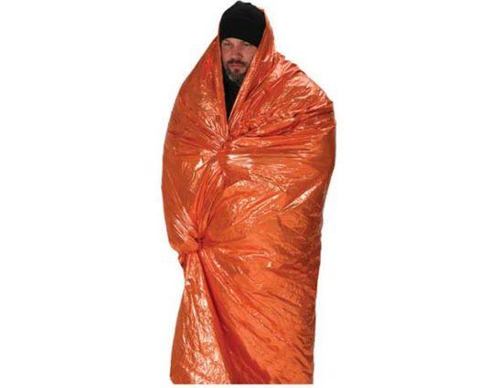 NDūR Emergency Survival Blanket, Orange/Silver