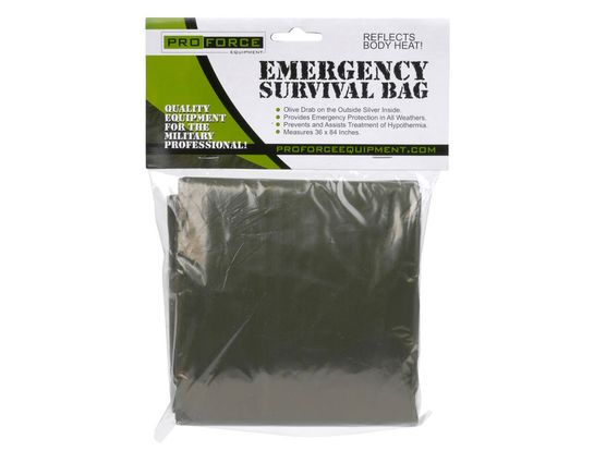 NDūR Emergency Survival Bag - Olive Drab / Silver - 144 Per Case