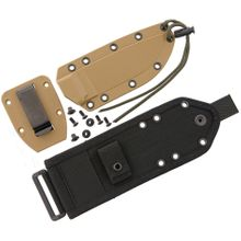 ESEE Knives ESEE-4 Coyote Brown Molded Sheath, Clip Plate and MOLLE Back