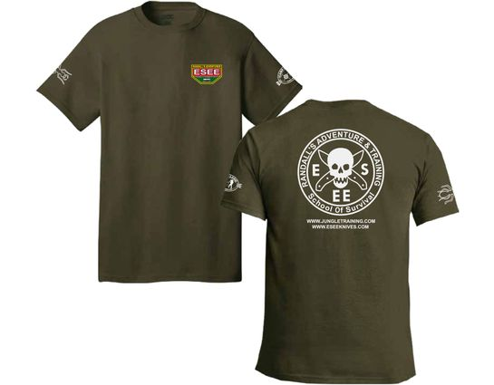 ESEE Knives Fatigue Green Training T-Shirt, Short Sleeve, XL