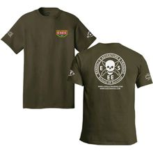 ESEE Knives Fatigue Green Training T-Shirt, Short Sleeve, Large