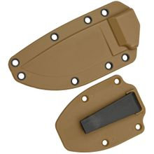 ESEE Knives ESEE-3 Molded Sheath with Clip Plate, Coyote Brown