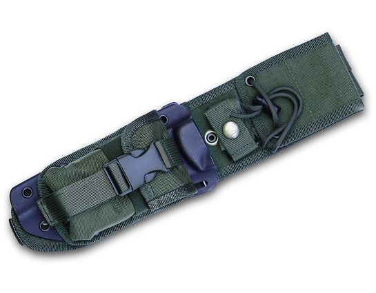 ESEE Knives ESEE-5-MBSP-OD MOLLE Back, Kydex Sheath and Pouch Combo, OD Green, Assembled