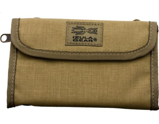 ESEE Izula Gear Passport Case with Bullet Space Pen, Desert Tan