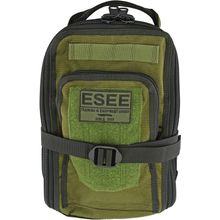 ESEE Knives Izula Gear Cordura Survival Bag with Mess Tin & ESEE Patch, OD Green