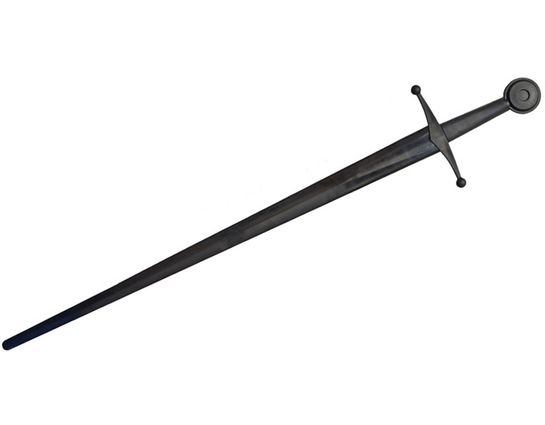 Red Dragon Armoury Xtreme Synthetic Sparring Single Hand Sword 34 inch Black Blade, Black Handle