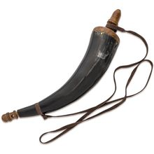 Collector's Armoury Colonial Reproduction Steer Powder Horn