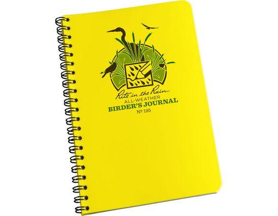 Rite in the Rain Polydura Bird Watcher's Spiral Notebook, 4-5/8 inch x 7 inch, Yellow