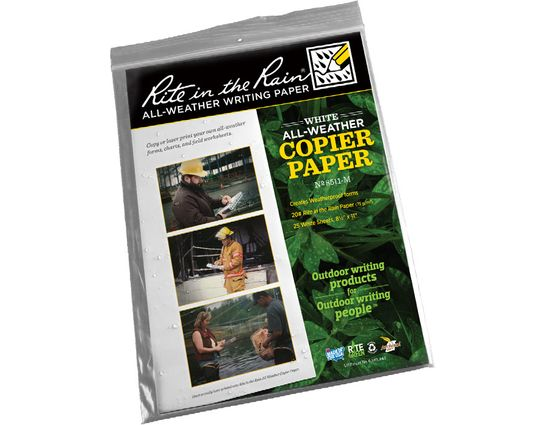 Rite in the Rain Loose Leaf Copier Paper 8-1/2 inch x 11 inch, 25 Sheets, White