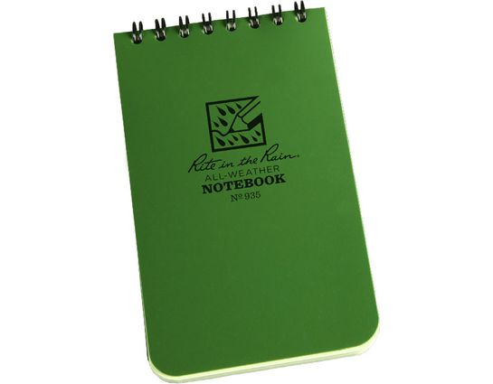 Rite in the Rain Universal Polydura Tactical Pocket Notebook, 3 inch x 5 inch, Green