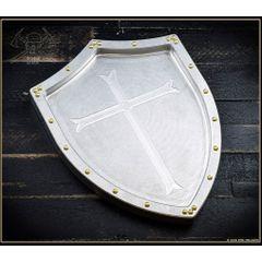 RMJ Tactical Billet Aluminum Valet Tray, Shield & Cross, 10 inch x 7.375 inch
