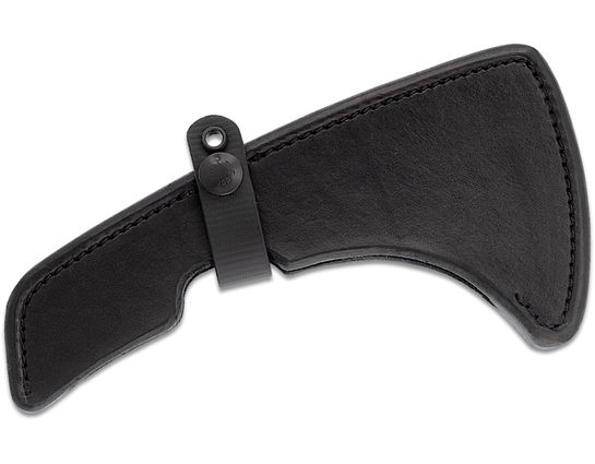 RMJ Tactical Black Leather Sheath for the Kestrel Tomahawk, Sheath Only