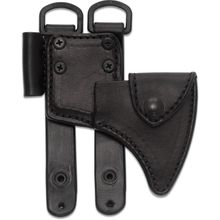 RMJ Tactical Black Leather Sheath for the Kestrel Trail Hammer Head Tomahawk, Sheath Only