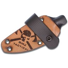 RMJ Tactical Hybrid Leather/Kydex Sheath for the Sparrow Fixed Blade, Sheath Only