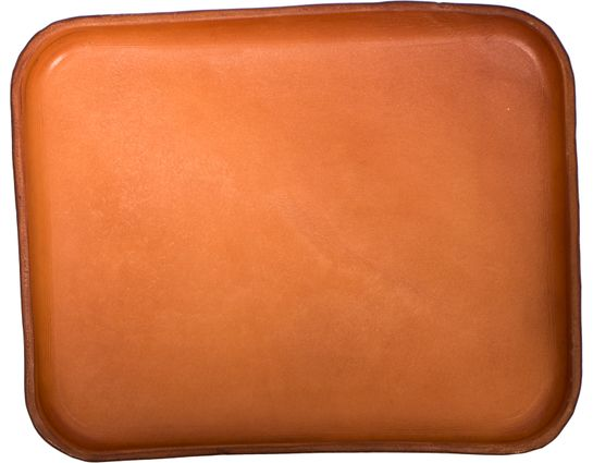 RMJ Tactical Leather Handcrafted Custom Valet Tray, Brown, 8.5 inch x 11 inch