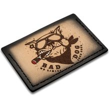 Sergey Rogovets Custom Leather Card Wallet, Bad Dog